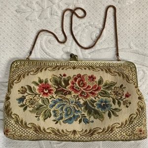 midcentury brocade evening bag
